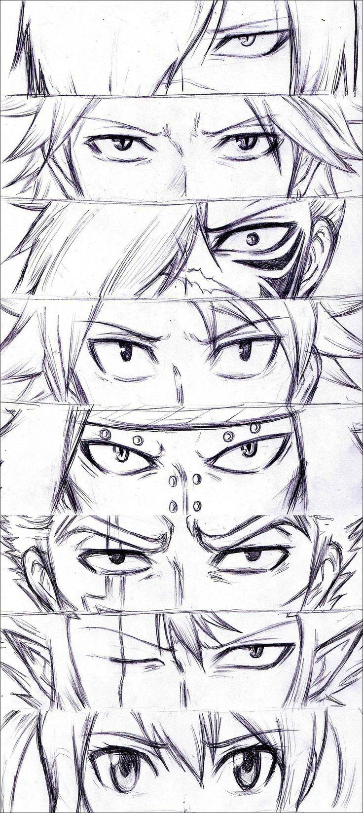 Fairy Tail - Rogue, Sting, Natsu, Gajeel, Laxus, Cobra and Wendy - Eyes dragon slayers