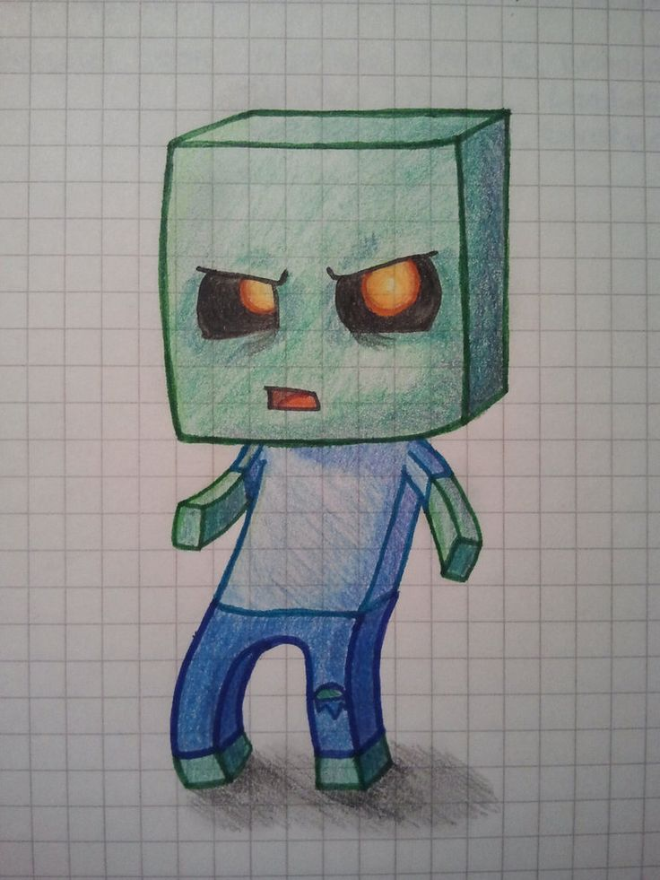Zombie Minecraft Drawing Minecraft Drawings Zombie