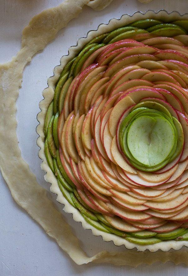Rose Apple Pie with Bourbon Glaze // www.acozykitchen.com