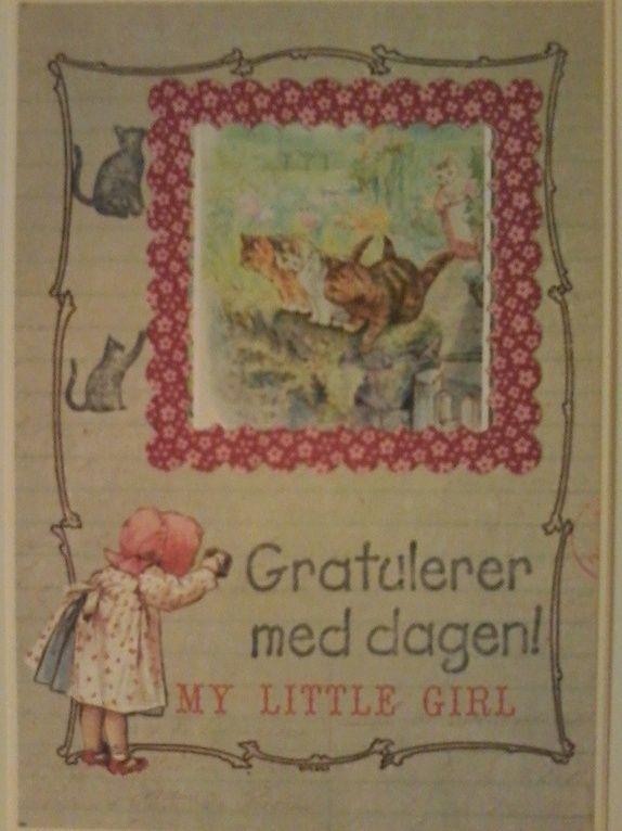 Søtt kort i vintage-stil.