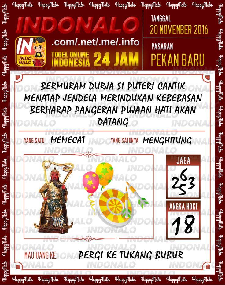 Angka Kuat 4D Togel Wap Online Live Draw 4D Indonalo Pekanbaru 20 November 2016