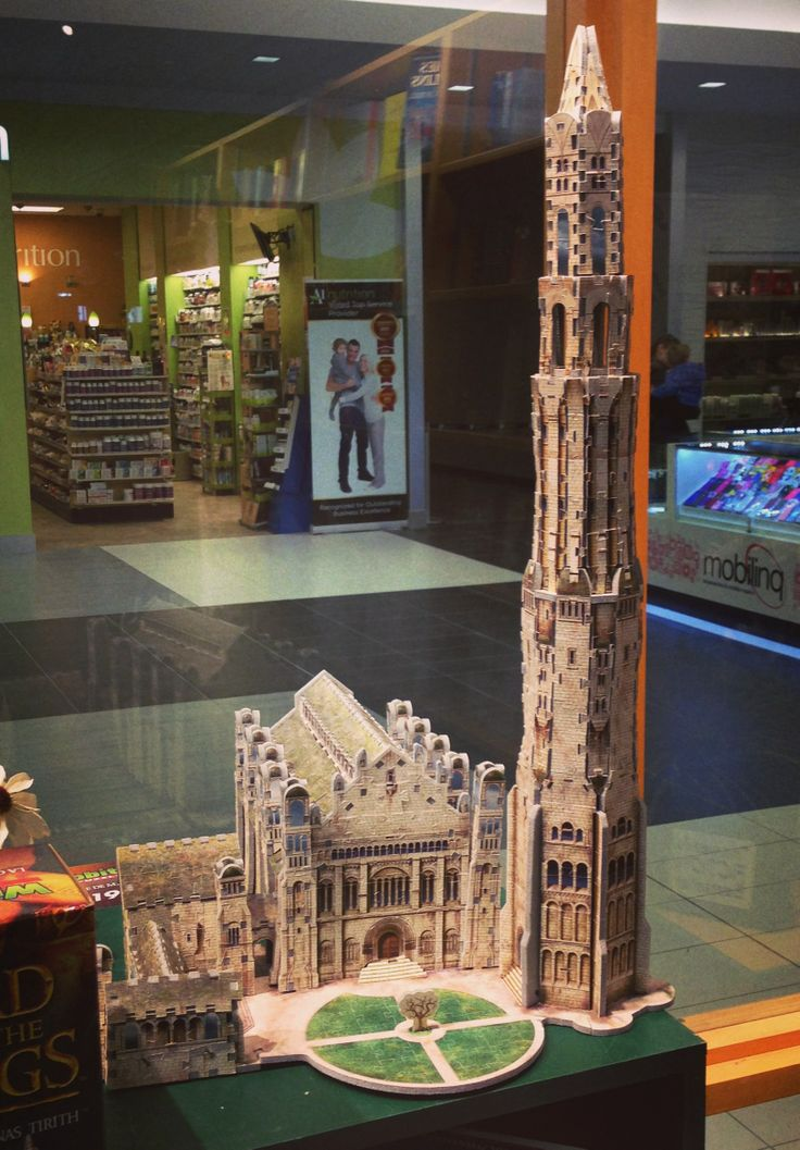 Marvelous The Citadel And White Tower Of Minas Tirith, Rendered In A 3D Puzzle. Check