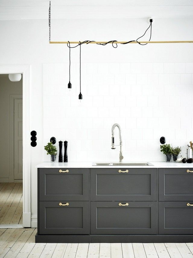 This Fresh Gray and Brass Home is Peaceful Perfection via @mydomaine