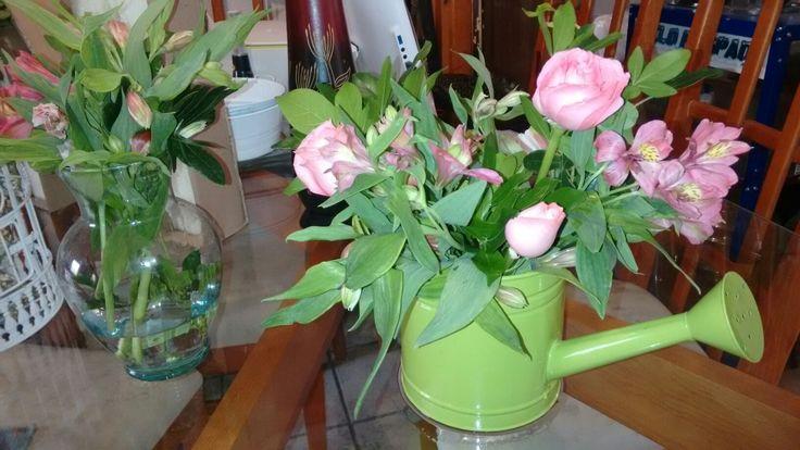 Rosas color salmón