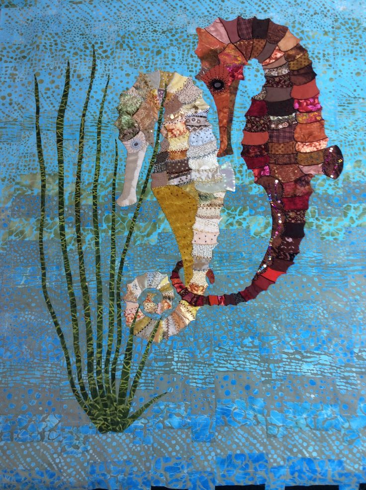 Seahorse quilt created by Jane Falkous