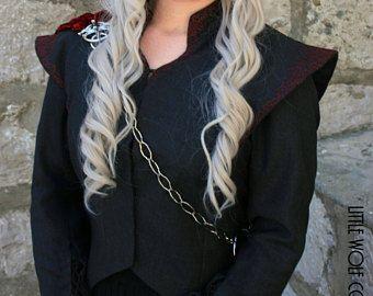 Daenerys Targaryen Saison 7 drei vorangegangene Drachen Pin & Kette nur. Spiel der Throne Cosplay