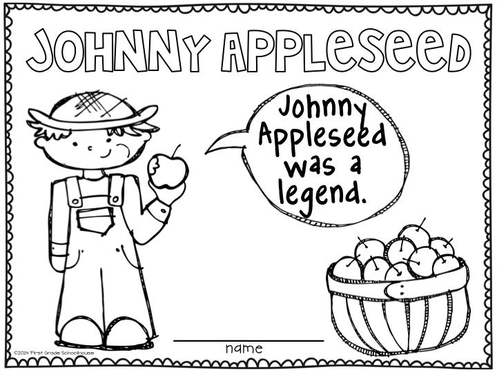 jonny appleseed coloring pages - photo#24