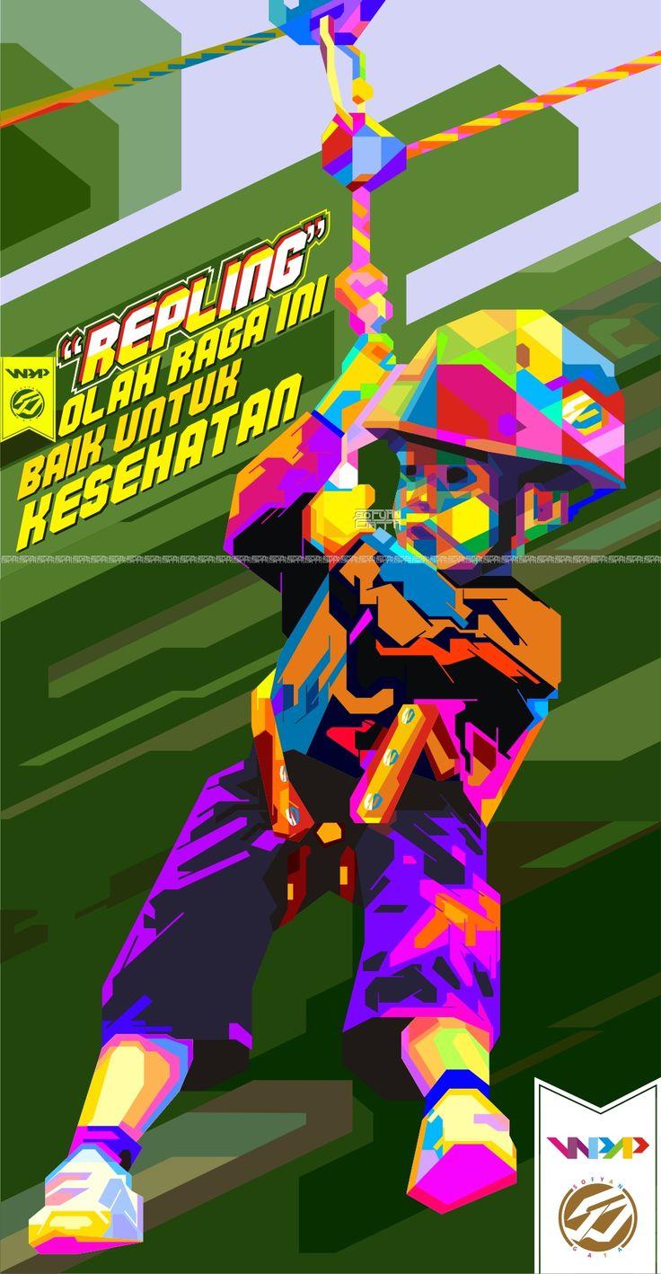 """REPLING """"olahraga ini baik untuk kesehatan.  #wpap #anomali #FaceArt #RainbowColor"""