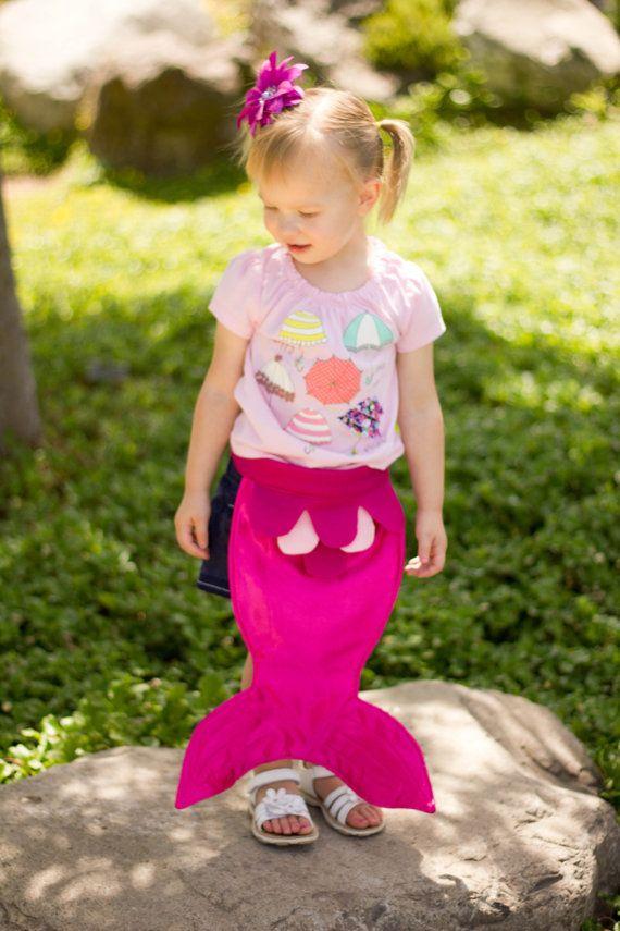 Kids Dress Up Fairy Tale Mermaid Costume Tail Pink Magenta Fuschia Size SMALL