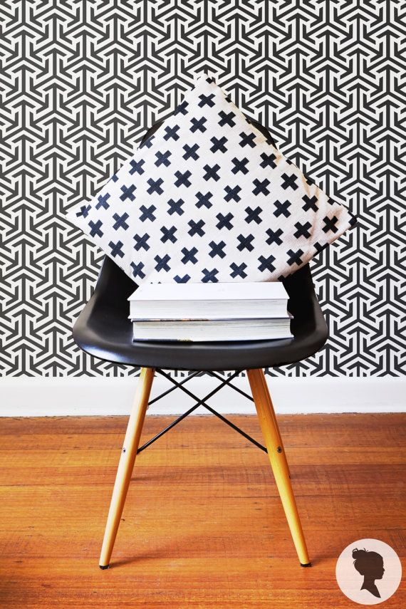 Self+Adhesive+Tribal+Pattern+Removable+Wallpaper+D212+by+Livettes