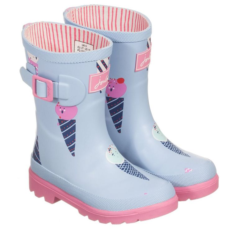 Joules - Girls Hand Made Ice Cream Wellies | Childrensalon