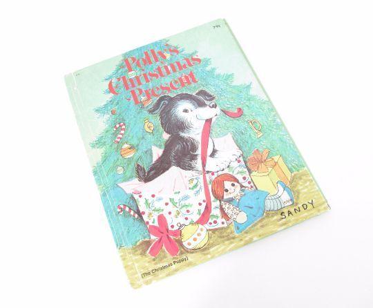 Polly's Christmas Present, Vintage Hardcover Children's Books, 1970s