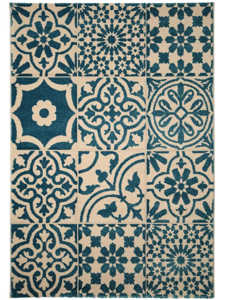 Tapis Patchwork-Mosaico Bleu 60002864 by benuta color Bleu design ...