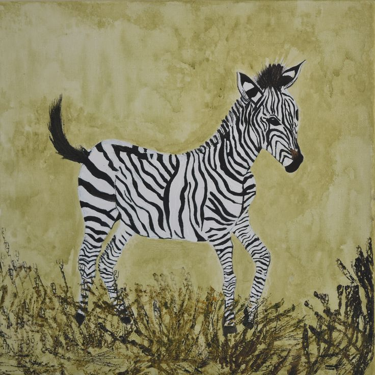 """""""Zebra Mother and Child (pair)"""" by Deborah Christensen. Paintings for Sale. Bluethumb - Online Art Gallery"""