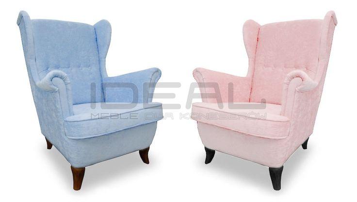 Fotele - Fotel Uszak Strand Ike Pantone - Ideal Meble