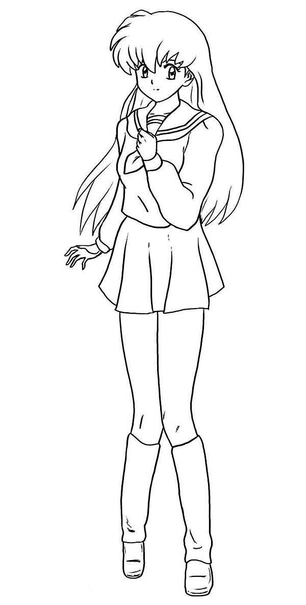 Best Nuyasha Anime Coloring Page Coloring Sky Anime School Girl Coloring Pages For Girls Sailor Moon Coloring Pages