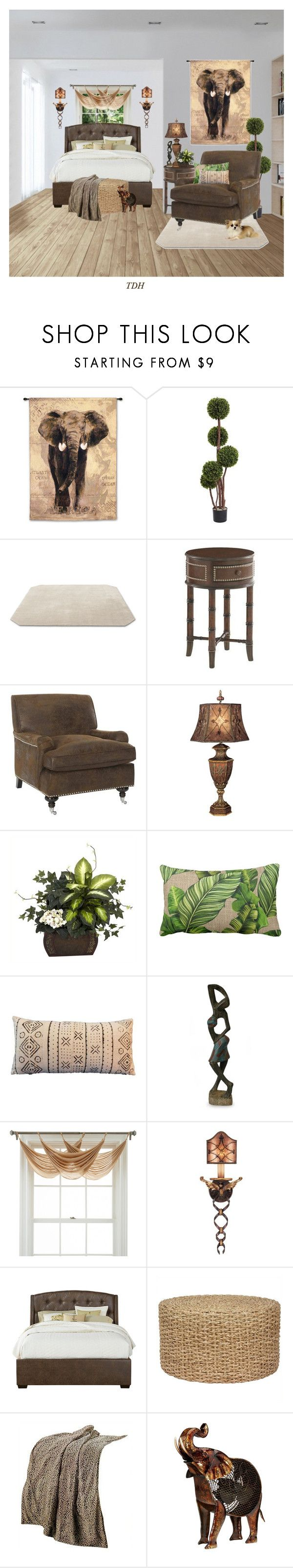 """""""The Bedroom"""" by talvadh ❤ liked on Polyvore featuring interior, interiors, interior design, home, home decor, interior decorating, &Tradition, Tommy Bahama, Safavieh and Fine Art Lamps"""