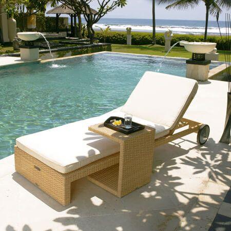 Leżaki, siedziska, leżanki : Sun - meble ogrodowe z technorattanu leżak ogrodowy - Twoja Siesta