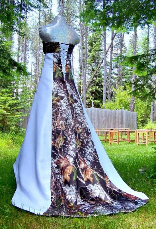 NEW Camo Wedding Gown/dress SATIN camo-