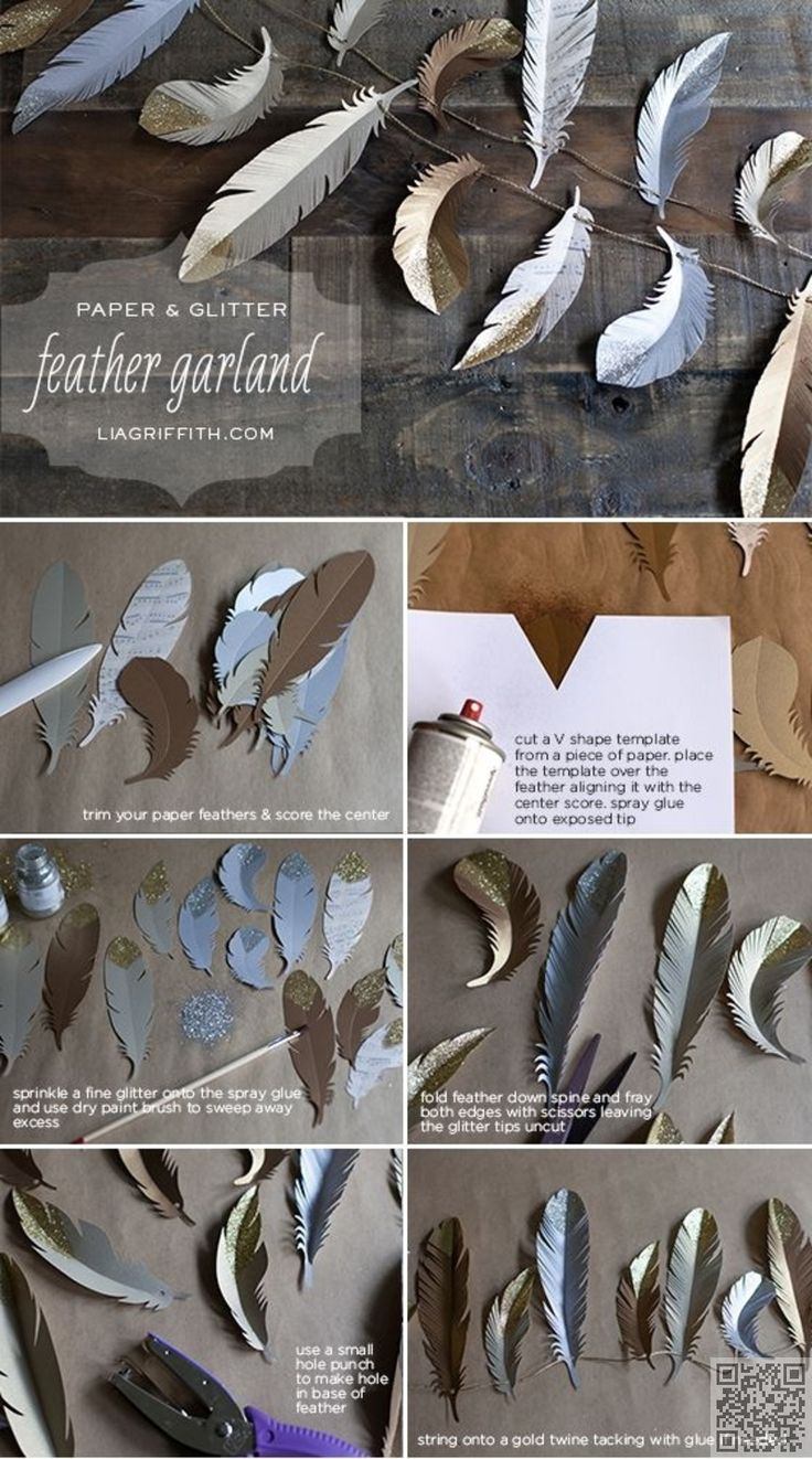 DIY: Paper Feather -Save to see if Christina can do this on her crafty tool