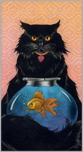 Cat Art: Fluffy : Mezzotint : Sharon Mitchell