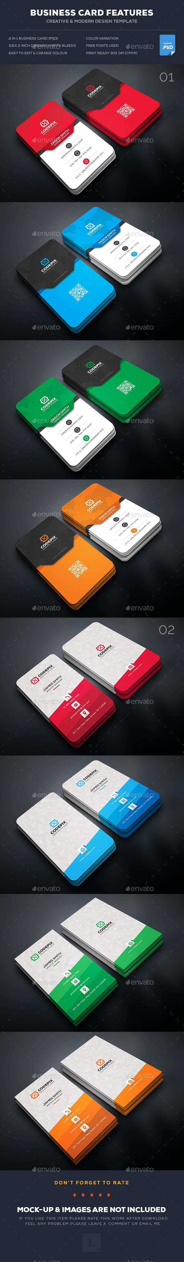 Business Card Templates PSD Bundle. Download here: https://graphicriver.net/item/business-card-bundle/17437279?ref=ksioks