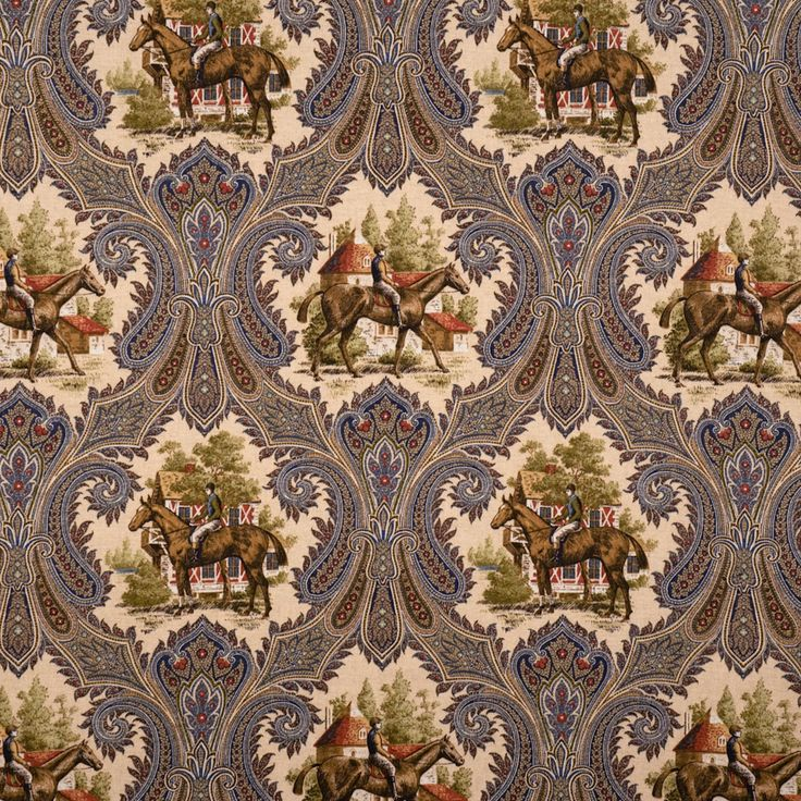 Arts And Crafts Style Drapery Fabric