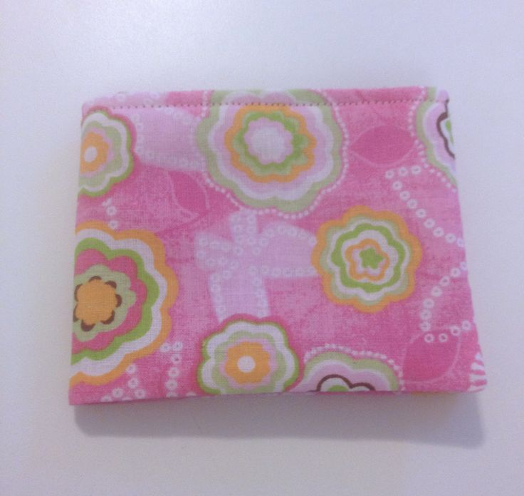 Pink Girls Bi Fold Wallet with Velcro Butterfly and Flowers by BethsCakeKitShop on Etsy