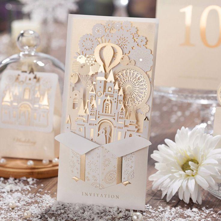 Oro Laser Cut Inviti di Nozze Carte Kit Personalizzabile Carta Cartoncino di…