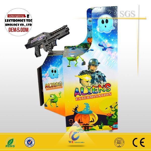 """MINI aliens shooting game with 19inch shooting arcade game machine, tv gun shooting games"""