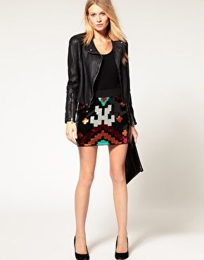 i'm totally into tribal print... and this is sequinned? it's mine
