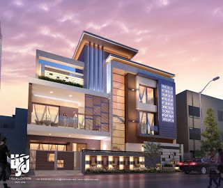 3D ARCHITECTURAL VISUALIZATION: 3D EXTERIOR NIGHT RENDERING