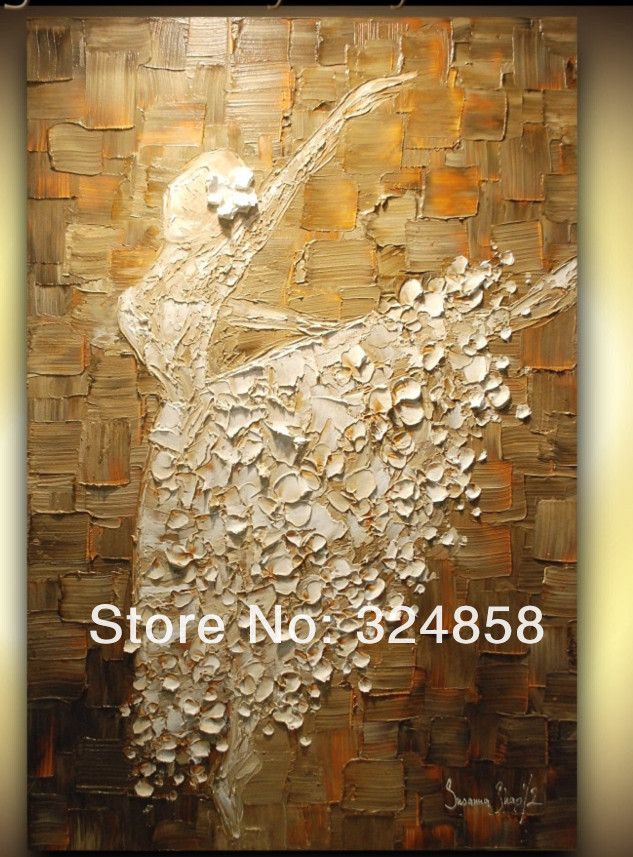 Huge wall painting dancing girl artwork oil painting on for Oil paintings for the home