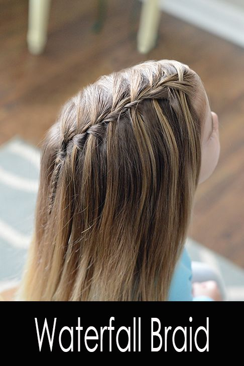 Learn how to waterfall braid in this step by step waterfall braid tutorial.