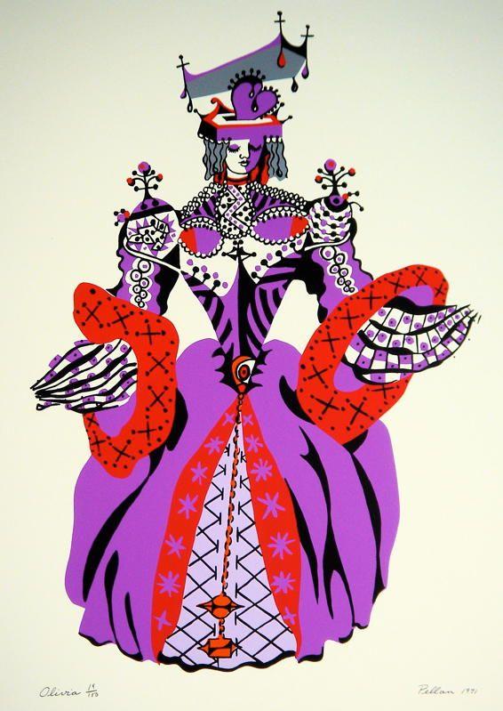 Alfred Pellan, Olivia, sérigraphie, 1971