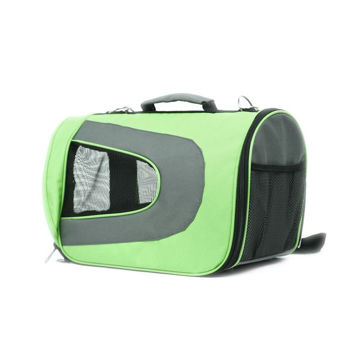 Iconic Pet - FurryGo Universal Collapsible Pet Airline Carrier - Lime Green - Medium - 601393517085.  FurryGo Universal Collapsible Pet Airline Carrier is stylish and sturdy. It has fashionable appeal and the collapsible design permits easy storage when not in use. The ventilation and visibility from three sides provides comfort for your pet. Collapsible Pet Airline Carrier is ideal for carrying your pet anywhere. It is perfect for travel via plane, car, or simply to the vet.