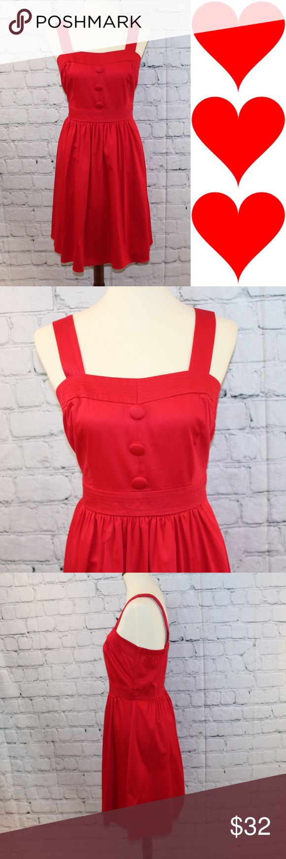 B. Smart red pleated A-line sleeveless dress Perfect for Valentine's Day! Excellent condition B. Smart Dresses