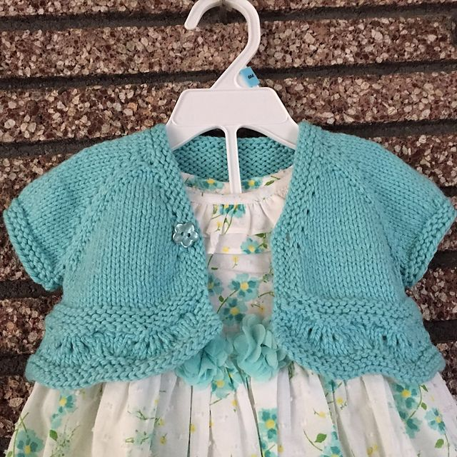 Ravelry: Project Gallery for Blossom Bolero (baby & toddler sizes) pattern by StitchyMama