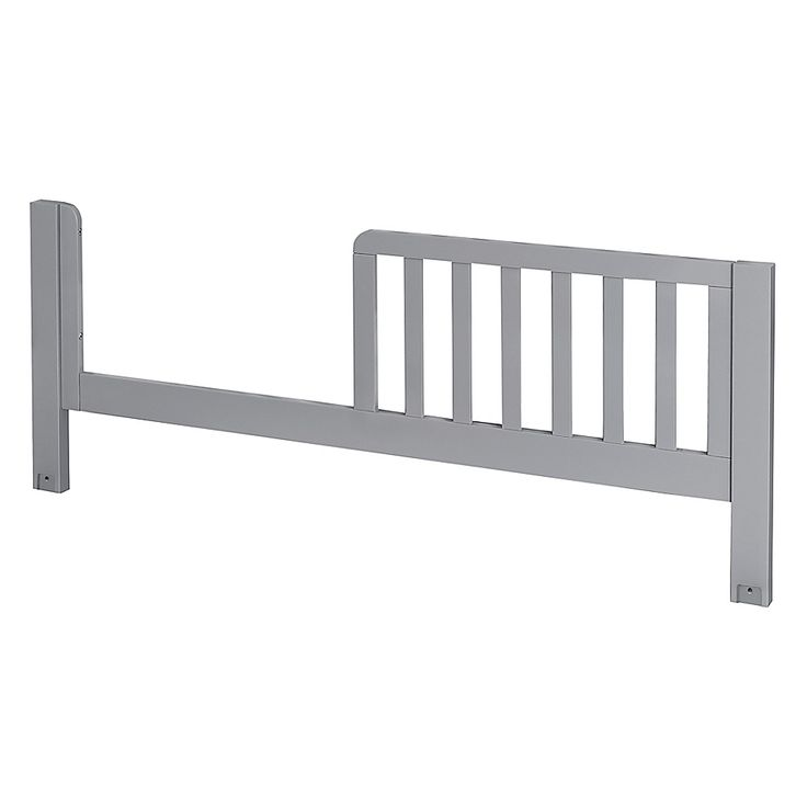 Babyletto maki toddler bed guard rail in grey bed guard