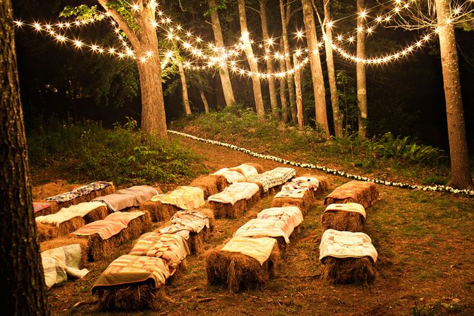 Outdoor wedding ceremony seating