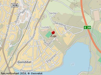 Localizarea, pe harta, a centrului Lunde Foto: m.finn.no