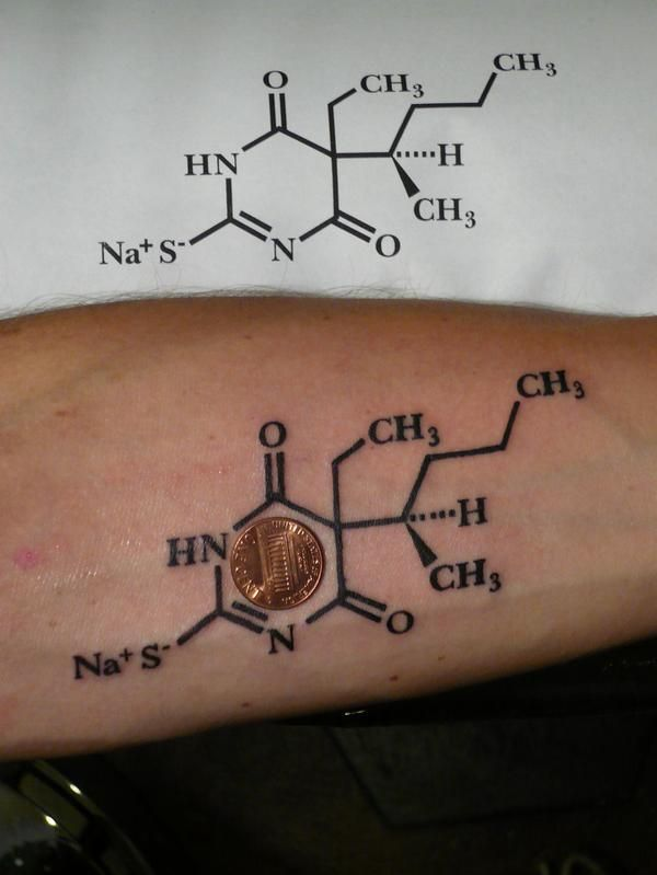 Molecular Formula Tattoo Pin chemical formula for sugar glucose on ...