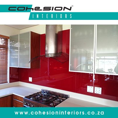 Cohesion Interiors manufacture and coat high quality, value-added glass for use in many residential and commercial applications.   #EVAkote #CohesionInteriors #kitchenideas #creativekitchencapetown