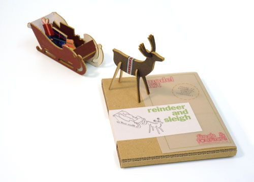 Finch & Fouracre | reindeer and sleigh