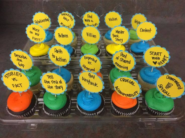 """Hungry for Accountability? Kudos to Influencer and trainer Juliet Swinger for creating and sharing """"Crucial Accountability cupcakes"""" in her class. She said: """"Trainees take a cupcake and then have to share a takeaway or something they recall about the topic on their cupcake. Fun and delicious!"""""""