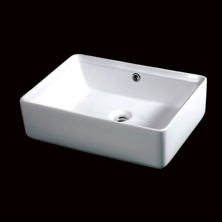 Rectangular Sink : EAGO BA131 Rectangular Counter Top Vessel Sink