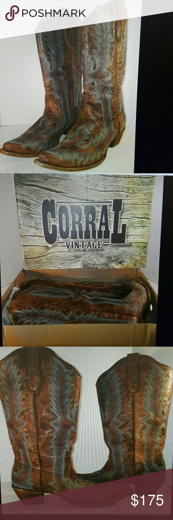 Selling this Corral womens boots size 10 western cowboy new on Poshmark! My username is: ashleypotter199. #shopmycloset #poshmark #fashion #shopping #style #forsale #corral #Shoes