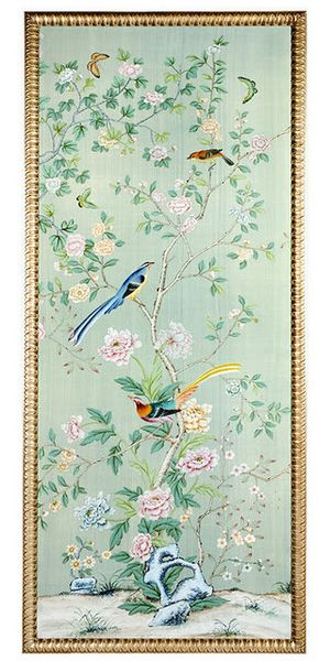 De Gournay hand-painted wallpaper - expensive but heavenly...sigh...
