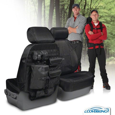 Toyota FJ Cruiser Custom Fit Ballistic Tactical Seat Covers with MOLLE storage system; premiumcoversoutlet.com $210