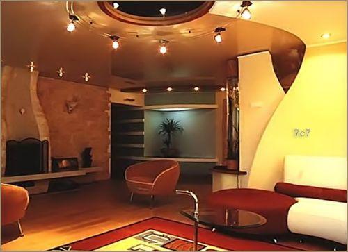 modern gypsum false ceiling for living room with lights